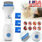 Flea Filter Remover Electric Vacuum Head Lice Comb Brush For Pet Dog + 3 Filters photo