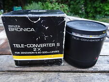 En Caja Zenza Bronica 2X Tele Converter Teleconvertidor S-Perfecto Estado