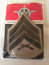 US MILITARY- COLLECTIBLE USMC E-5 SERGEANT SHOULDER PATCH