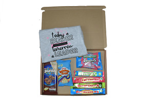 Girls Boys Today a Reader t-shirt & sweets gift letter box gift quick prezzy