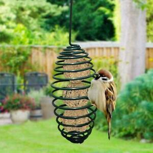 Garden Grease Spring Long Rod Song Squirrel Proof Bird Feeder Hanging H8G3