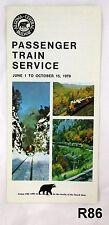 Jun to Oct 1979 Algoma Central Railway Passenger Train Service Timetable R86