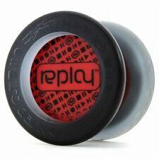 Replay Black & Red Responsive Beginner Yo Yo YOYOFactory + 3 Strings YEL/ORG/GRN