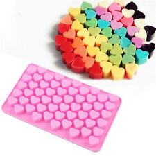 55 Mini Heart Shape Silicone Ice Cube Mold Fondant Chocolate Tray Mould Cute New