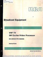 RCA Test Equipment Manuals & Books