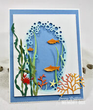 Memory Box UNDER THE SEA COLLAGE thin metal die, fish, made in USA