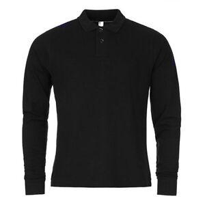 Mens Full Sleeve Polo Shirt T-shirt Top Fashion Cotton Work Wear S M L XL 2XL