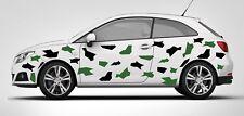 CAR CAMO KIT GRAPHICS VINYL DECALS STICKERS CAMOUFLAGE VINYL Black&Green