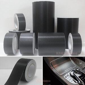 DIY Adhesive Vehicle Black 3D Texture Carbon Fiber Vinyl Tape Wrap Sticker CB