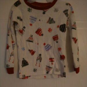 Burt's Bees Baby Girl's Pajamas Top  Organic Cotton Size 2T CHRISTMAS