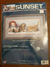 DIMENSIONS SUNSET Counted Cross Stitch Kit #13709 PARTNERS IN CRIME Harrison NIP