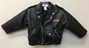 Boys Harley Davidson Black Faux Leather Jacket 4T