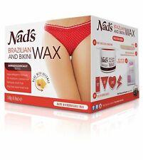 NADS Brazilian & Bikini Wax Kit Strip Free Hard Salon Wax For Stubborn Hair