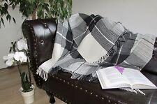 Wool Blanket, Wool Plaid, Sofa Blanket 130x185 cm