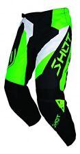 "Shot Adulti devo Allarme Motocross Fuoristrada MX Pantaloni - Verde Neon / Nero 32"""