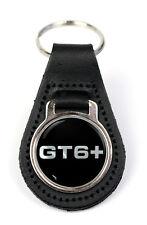 Triumph GT6 + Logo Quality Black Leather Keyring