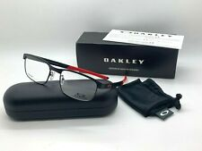 Oakley SURFACE PLATE OX5132-0454 MATTE BLACK/RED Eyeglasses Frame 54-18-138mm