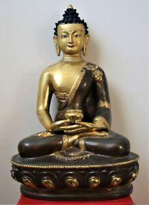 Beautifully Decorated Bronze Tibetan Seated Buddha