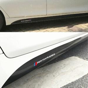 2pcs 5D Auto Carbon Fibre Look Car Side Skirt Sticker Decal For BMW 3 4 5 Series