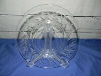 "Vintage Fostoria Cynthia Clear Etched 8 1/2"" Luncheon Glass Plate Lot of 8"