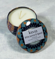 Kevia White Jasmine & Figwood All-Natural Soy Wax Candle New