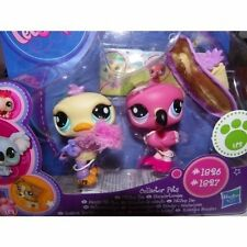 Littlest Pet Shop - Collector Pets - #1826 FLAMINGO and #1827 OSTRICH - New