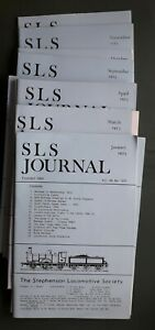 The Stephenson Locomotive Society Journal 1973 - all 12 monthly copies