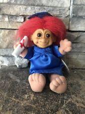 Russ Troll Doll! 6 1/2� Red Hair Brown Eyes Soft Body! Graduation Girl! Tag!