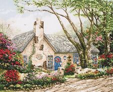 Anchor maia-counted cross stitch kit-morning glory cottage - 5678000 \ 1080