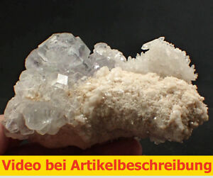 6463 Fluorit fluorite Quarz super Aufbau 360 Grad Shanbao China 13*9*9 cm  MOVIE