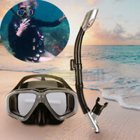 Snorkel Set Adult Youth Snorkeling Dry Top Frameless Mask Free Diving Scuba Low
