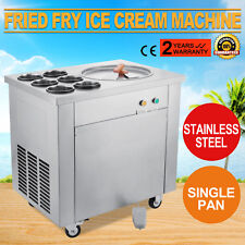 Machine À La Glace Yogourt Fritée Crème Glacée 1 Poêle 6 Seaux Fried Ice Cream