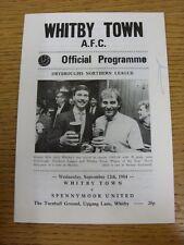12/09/1984 Whitby Città V spennymoor United (PEN marchio sulla parte anteriore)