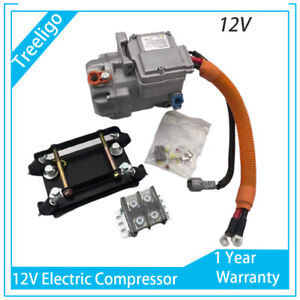 Portable Auto Electric Vehicle Air Conditioning DC 12V Car Compressor