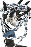 4 Charm Steel Blue Celtic Wedding Handfasting 6ft Cord V3 #Wedding #Handfasting