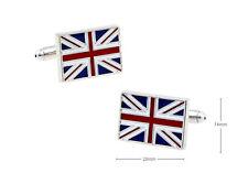 Mens Shirt Britain National Flag Novelty Cufflinks  (AF05_1)