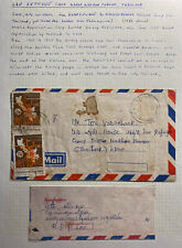 1982 Laos Airmail Cover To Nakhonphanam Refugee Camp Thailand
