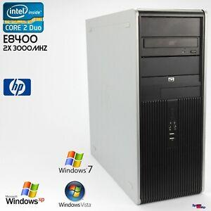 Hp DC7900 Cmt Tower Computer PC Windows XP 7 Core 2 Duo E8400 RS232 Parallel Lpt