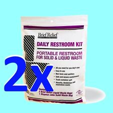 BRIEF RELIEF™ Daily Restroom Kit, Camping, Hiking, Emergency, Crisis, NEW