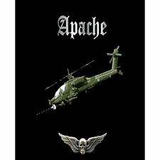 Boeing Apache Attack Helicopter Army Pilot Battle 1 Gram Silver Bar Coin Black