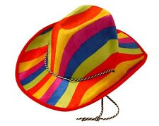 MARDI GRAS RAINBOW COWBOY COWGIRL PARTY HAT GAY PRIDE MARDI GRA FESTIVAL