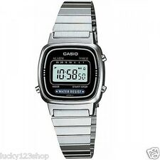 La670wd-1d Casio Silver Watch Stainless Steel Lady Stopwatch Alarm