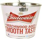 Budweiser 'Beechwood Aged Smooth Taste' Beer Ice Aluminum Bucket