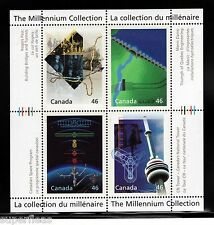 2000 Canada Millennium S/S #1831 pane #14 Engineering & Technology MNH ** VF