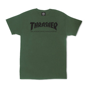 Thrasher Skateboard T-Shirt Skate Mag Army Green