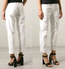 Women's MOTHER THE LOOSEY Party Crashers White Destroyed Jeans Size 30