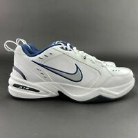 Nike Men's Air Monarch IV White Metallic Silver Training Shoes 416355-102 4E