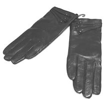 Genuine Leather Gloves Women Black Medium Winter Walking Driving Gants Femme