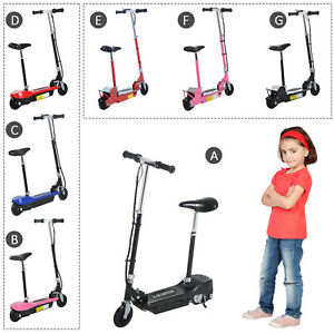 Kids Electric E Scooter Ride on Battery Children Toy Adjustable Seat 120W 500W