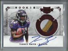 Torrey Smith 2011 Plates & Patches Autograph Game Used Jersey Rookie #088/499
